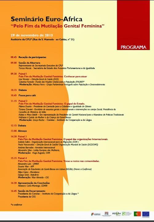 seminario euro africa - programa