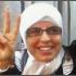 Faten Rajab Fawaz a ativista síria, antes de ser presa numa manifestação em Damasco
