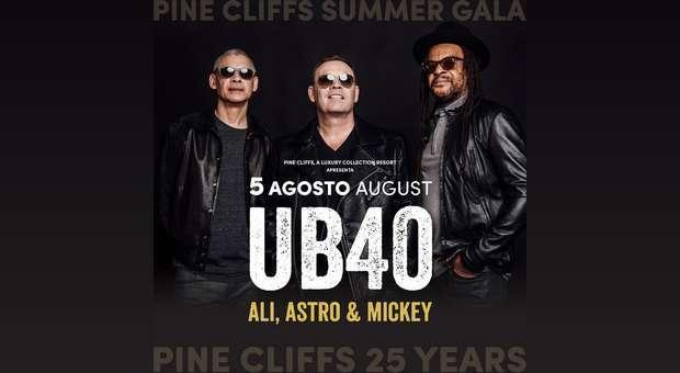 Concerto dos UB40 no Algarve a 5 de agosto