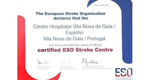 Unidade de AVC do Gaia/Espinho é Certified ESO Stroke Centre