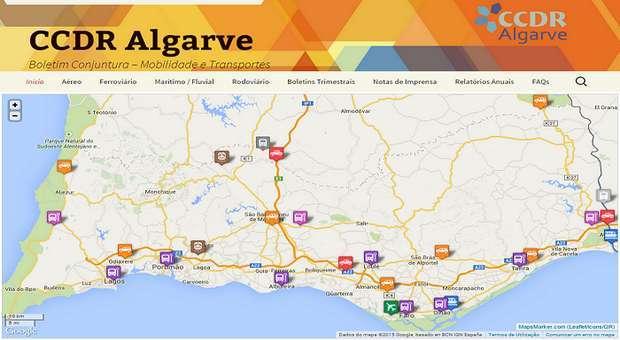 Portal indica novos fluxos de tráfego no Algarve