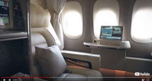 A Emirates apresentou as novas cabines do Boeing 777-300ER