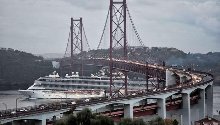 O MSC Seaview esteve pela primeira vez em Lisboa