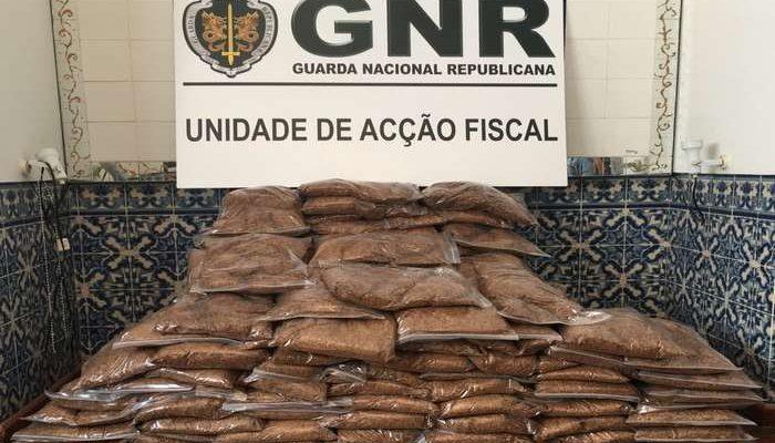 GNR apreende carregamento de tabaco ilegal em Portalegre