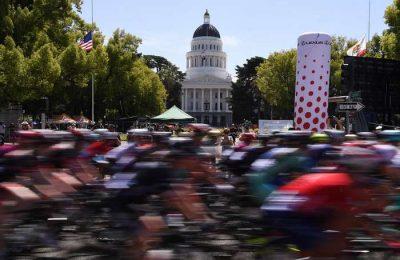 Os ciclistas Rui Oliveira e José Gonçalves na Volta à Califórnia