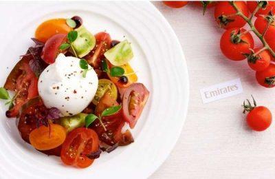 A Emirates anuncia menús sazonais em 520 voos diários