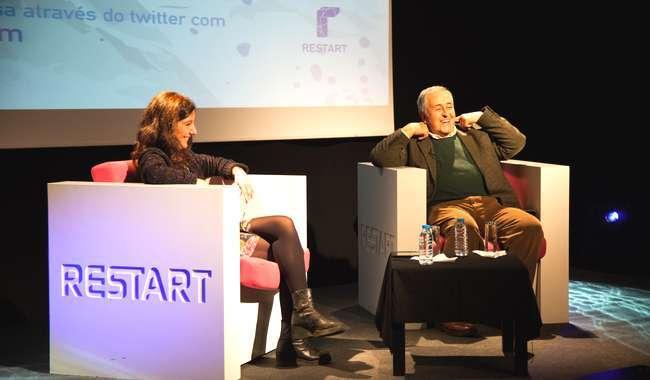 Restart recebeu Nicolau Breyner na primeira sessão de Há Conversa Com