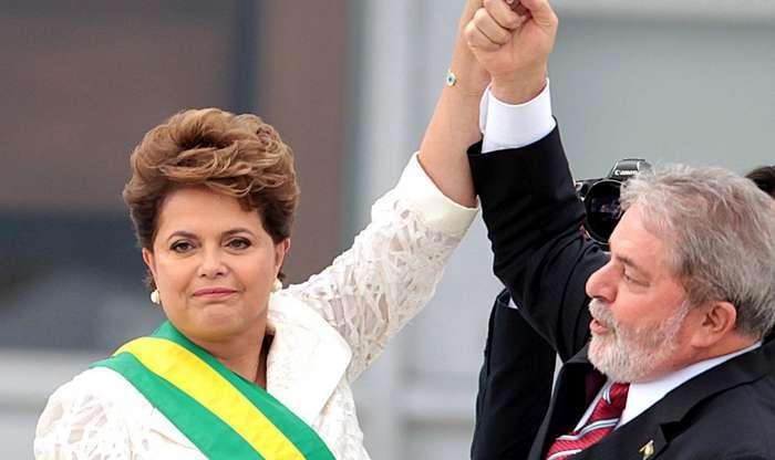 Dilma Rousseff e Lula da Silva sobre brasas no Brasil!