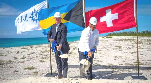 MSC Cruzeiros inicia construções em ilha exclusiva nas Bahamas