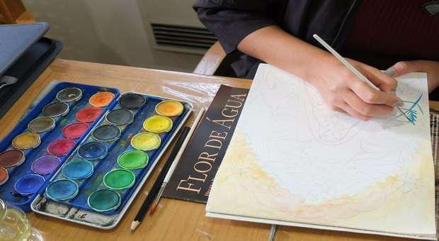 Workshop de pintura na Casa Roque Gameiro