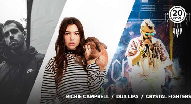 Dua Lipa, Crystal Fighters e Richie Campell no MEO Sudoeste