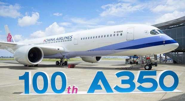 A Airbus entregou o centésimo avião A350 XWB