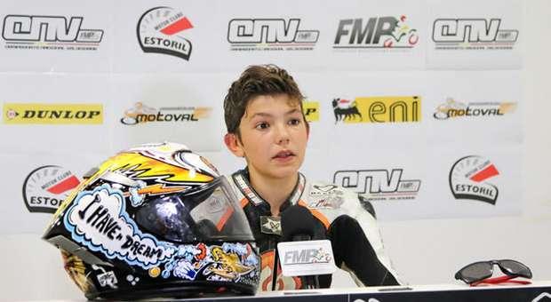 O jovem piloto Kiko Maria quer ser campeão em 2018