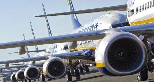 Ryanair em greve a 29 de Março 1 e 4 de Abril