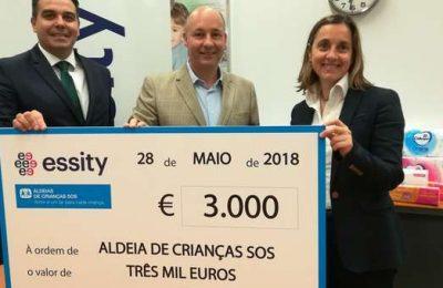 Essity Iberia apoia Aldeias de Crianças SOS com donativo