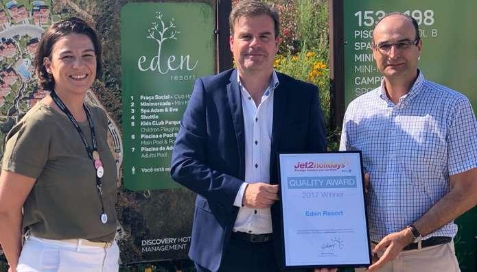 Eden Resort distinguido pelos clientes da Jet2