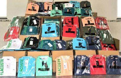 Unidade Fiscal da GNR apreende vestuário contrafeito