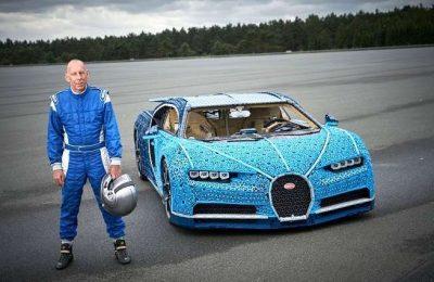 LEGO constrói replica do modelo Bugatti Chiron
