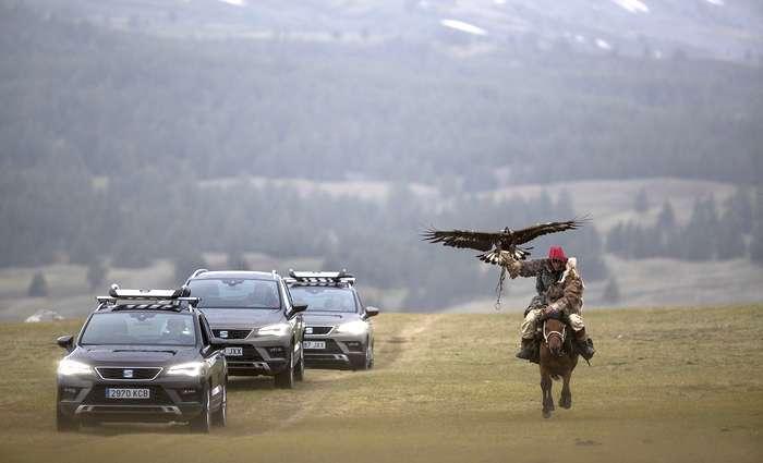 Expedição SEAT Ateca por picos e estepes da Mongólia
