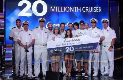 MSC Seaside atingiu a marca de 20 milhões de passageiros