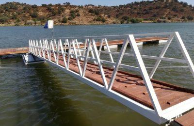 Instalado novo Cais Flutuante na Foz de Odeleite