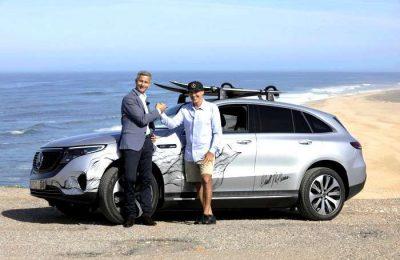 Garrett McNamara recebe primeiro Mercedes EQC