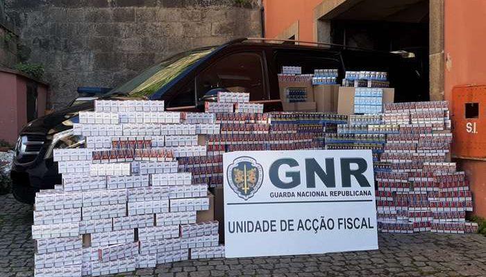 GNR apreende carregamento de tabaco ilegal