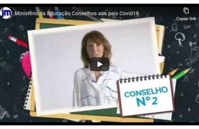 Vídeo do Ministério da Educação dirigido aos pais