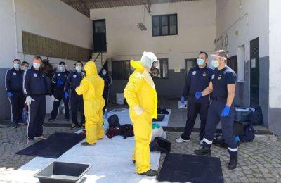 Sapadores de Lisboa dão formação COVID 19 em Faro