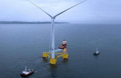 Completo o primeiro parque eólico flutuante da Europa