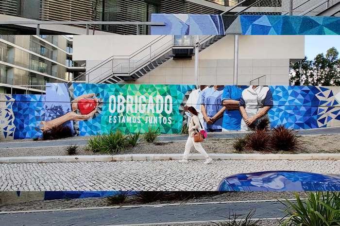 Arte Urbana homenageia os profissionais de Saúde