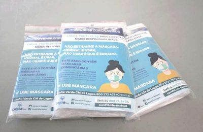 Lagoa iniciou a 2ª distribuição de Máscaras à população