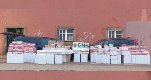 GNR apreendeu um milhão de cigarros de contrabando