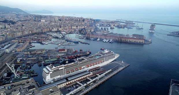 O MSC Grandiosa partiu de Génova em viagem de cruzeiro