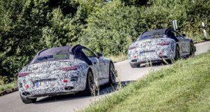 O novo SL Roadster da Mercedes AMG em fase de testes