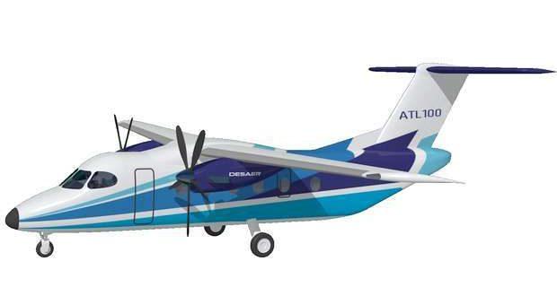 Évora recebe o projeto aeronáutico ATL-100