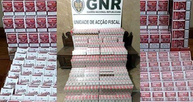 GNR apreende 60.000 cigarros sem estampilha fiscal