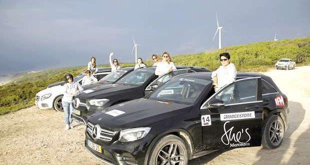 She's Mercedes Off Road Experience por trilhos da Nazaré