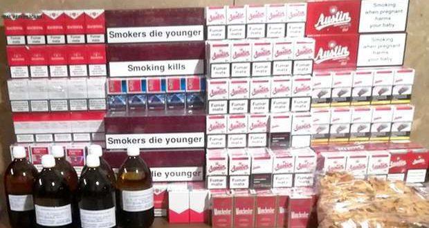 Tabaco e bebidas apreendidos por fraude tributária