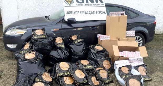 GNR apreende carregamento de tabaco ilegal na Moita
