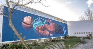 Mural OFÉLIA de Jorge Charrua no Pinhal Novo