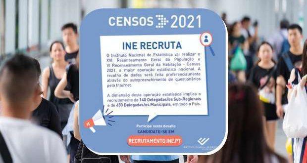 O INE está a recrutar Delegados para o Censos 2021