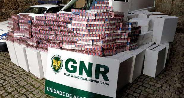Apreendidos 550 mil cigarros na A3 zona de Braga