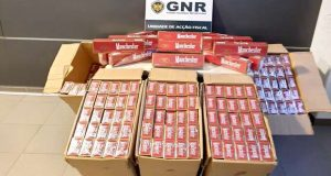 GNR apreende carrega de tabaco de contrabando