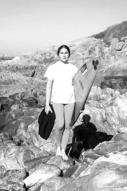 Michelle des Bouillons surfou onda gigante nos Açores
