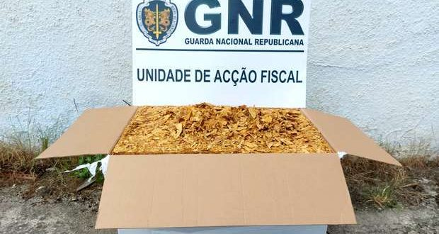 GNR apreendeu 200 quilos de folha de tabaco