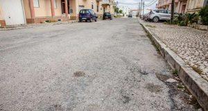 Repavimentação das ruas no Pinhal Novo - Sul