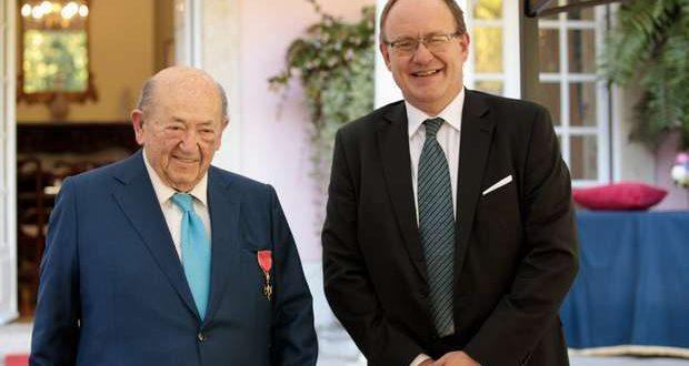 André Jordan é Oficial Honorário do Império Britânico