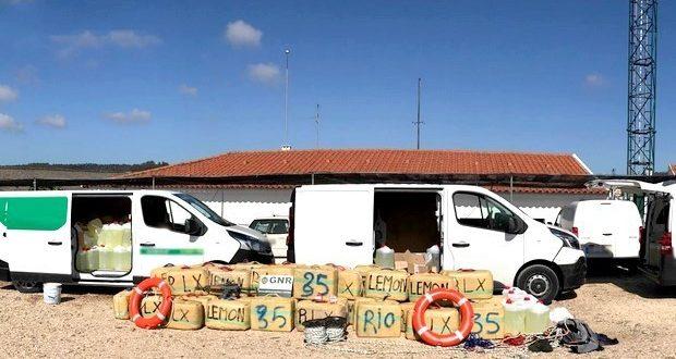GNR detém 4 traficantes e duas toneladas de haxixe